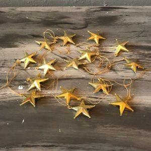 Miniature gold star ornaments set of 15